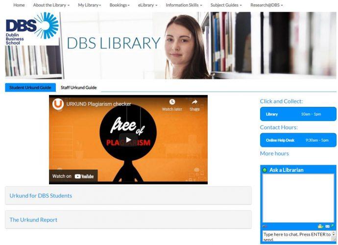DBS Student Urkund Guide